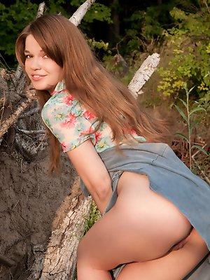 Sexy girl outdoors