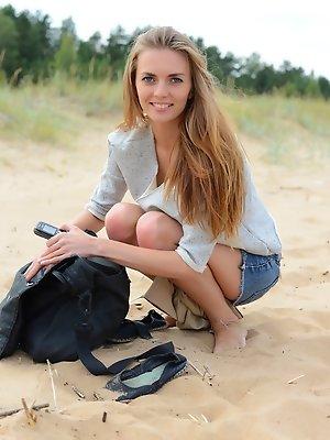 Girl on the seaside